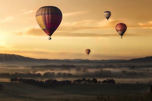 Hot Air Balloon - Dusk